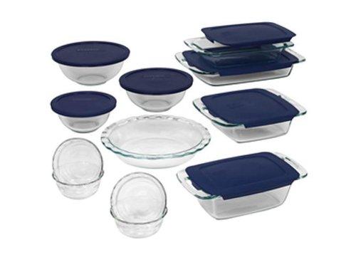 World Kitchen 1058994 Pyrex Bakeware 19-Piece Baking Dish Set, Clear