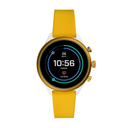 Fossil Women's Sport Heart Rate Metal and Silicone Touchscreen Smartwatch,...