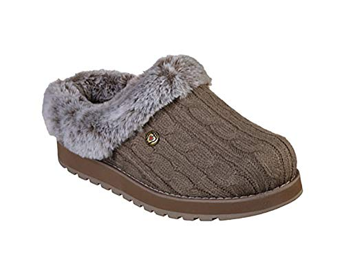 BOBS from Skechers Women's Keepsakes Ice Angel Slipper, Taup