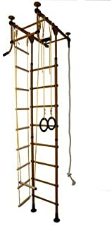 Espalier, Mur D'escalade Intérieure, Équipement de sport maison, 6 Couleurs, 3 hauteur de la pièce. directement du fabricant, max. Résistance 130 kg - Marron, Pour pièces de hauteur 220-270 cm Équipement de sport maison