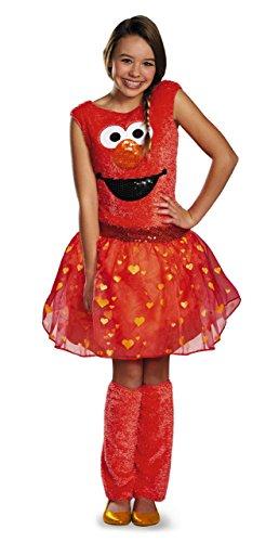 Disguise Sesame Street Elmo Tween Deluxe Tween Costume, Large/10-12