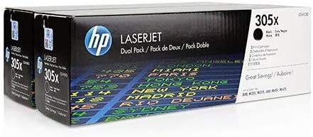 CE410AD 2//PK-2200 Page Yield NO. 305A Replacement for HP Color Laserjet M351//475 Black Toner Cartridge