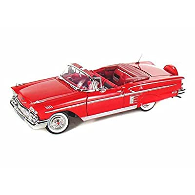 1958 Chevy Impala Convertible 1/24 Red by Collectable Diecast: Toys & Games