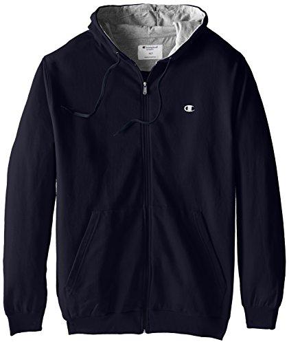 Champion Men's Big-Tall Full Zip Fleece Hoodie, Navy, (Big Tall Hooded Sweatshirts)