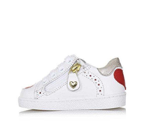 Twin-Set Weißer Schuh mit Schnürsenkeln Aus Leder, phantasievoll und Modisch, Seitlich ein Reißverschluss, Mädchen-23