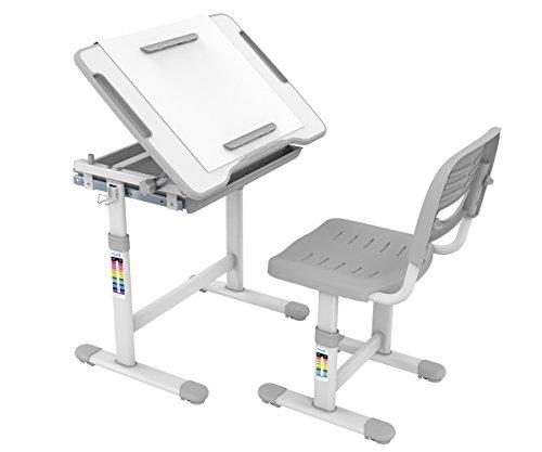 ProHT Height Adjustable Children Desk & Chair Sets,Kids Stud