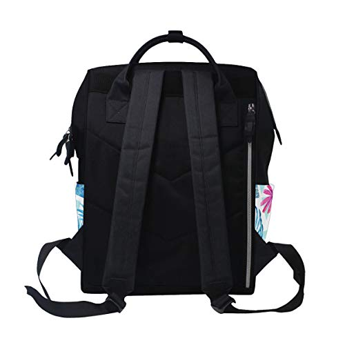 for Bag Women Floral Large Mummy Muti Multi3 Hylaea Backpack Canvas Capacity Bag Travel Function aqz77HvU