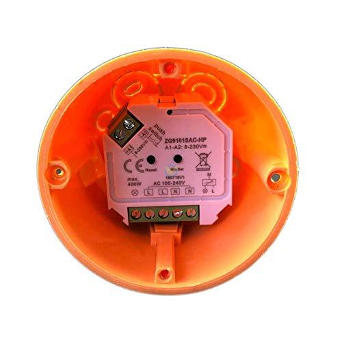 ZigBee 3.0 1 canal para 230 V m/áx. 200 W LED 400 W hal/ógeno con conector de bot/ón control de fase para l/ámparas regulables, transformadores y l/ámparas Interruptor atenuador empotrado