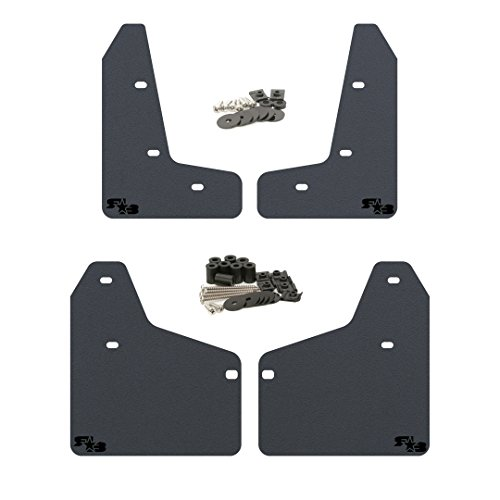 2010-2014 MK6 Golf GTI Mud Flaps by RokBlokz - Multiple Colors Available - Mud Guards are Custom Cut and Fit - Includes All Mounting Hardware (Black with Black Logo, Short) (Gti Car Golf Volkswagon)