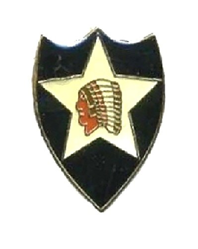 (US Army 2nd Infantry Division Lapel Pin Hat Tie Tac Brass CHN)