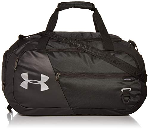 Under Armour Undeniable Duffle 4.0, Black (001)/Silver, Medium (Under Armour Basketball Bag)