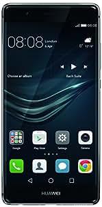 Huawei P9 Smartphone de 5.2'' (Wi-Fi, Bluetooth, memoria de 32 GB, batería de 3000 mAh, cámara de 12 MP, Android), versión de Europa Occidental, gris
