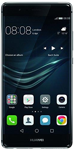 Huawei P9 - Smartphone de 5.2'' (4G, 3 GB de RAM, memoria interna de 32 GB, cámara de 12 MP, Android 6.0), color gris - [versión de Europa Occidental]