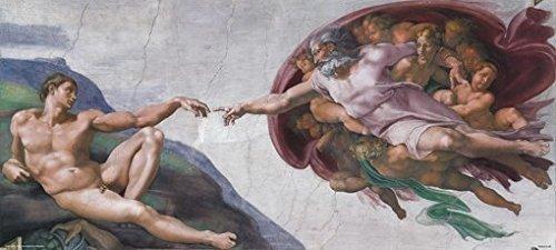 Creation of Adam Poster Michelangelo Vatican Sistine Chapel Rare Hot New