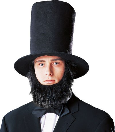 Abraham Lincoln Costume Hat With Beard