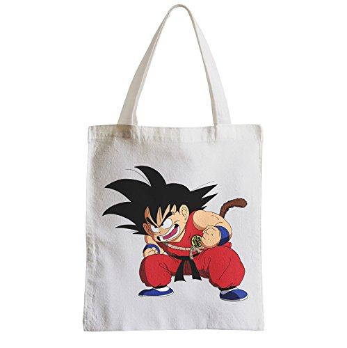 Große Tasche Sack Einkaufsbummel Strand Schüler Manga Dragon Ball Goku DBZ
