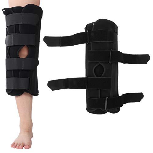 Férula para rodilla Inmovilizador Férula para pierna Patilla de 16 pulgadas de fracturas y dislocaciones o lesiones de ligamentos en muslos Rodillera Apoyo de comodidad rígida (METRO)