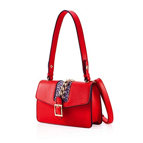 Cross Use Bag Classic Simple body Design Series Classic Dual BBFB363 Contrast Color Barbie Adjustable Strap Shoulder Bag Chain 6wxqPHOqn