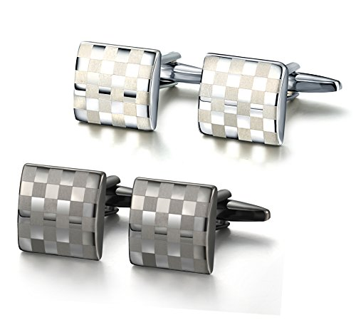 Besteel Modern Design Cufflinks Wedding