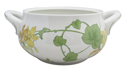 (Villeroy & Boch Geranium (Non-Ribbed Rim) Round Covered Vegetable (No Lid))