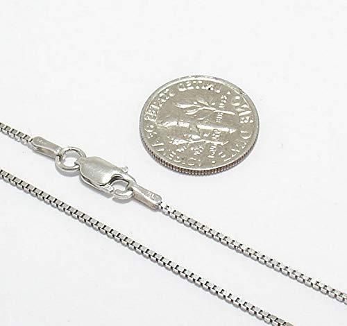 Hemau 1mm Anti-Tarnish Solid Italian Box Chain Necklace Real Sterling Silver   Model NCKLCS - 131   ()