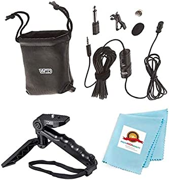 External Lavalier Microphone with 20 audio cable Accessory Bundle for Action Cameras