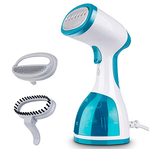 Minetom Steamer for Clothes -1000W Portable Powerful Handheld Garment Steamer with 260ml High Capacity, 40s Fast Heat-up, Wrinkle Remover, Clean and Sterilize, for Home and Travel