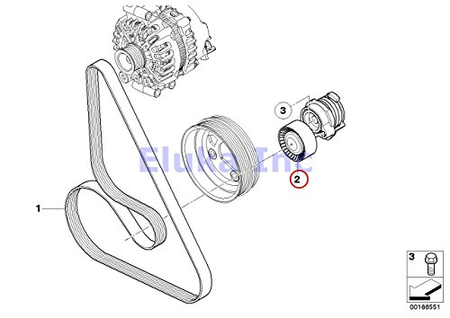 Amazon Com Bmw Genuine Drive Belt Tensioner With Pulley
