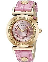 Versace Womens P5Q80D111 S111 VANITY Analog Display Quartz Pink Watch
