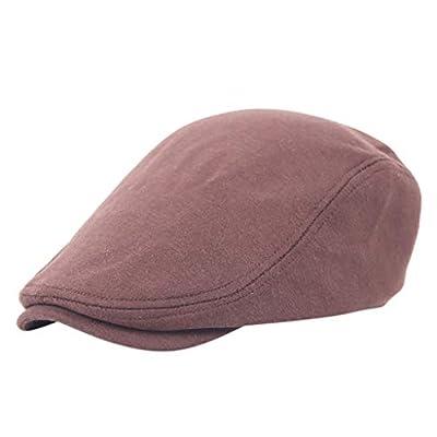 Jinjin Women Man Newsboy Hats and Caps Herringbone Newsboy Baker Boy Tweed Flat Cap Solid Casual Gatsby Hat