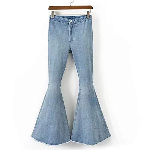 Vintage Jeans Taille Fit Stretch Haute Clair Pantalons Pantalon Skinny Amuster Crayon Pants Big Femmes Denim Flare Collants Slim Bleu zwvB6q