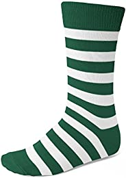 Best Review Men Hunter Green And White Striped Socks
