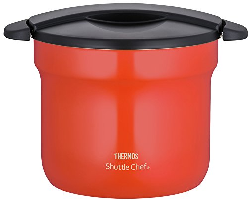 (THERMOS vacuum heat insulation cooker shuttle chef 4.3L [for 4 to 6 people] tomato KBF-4501 TOM)