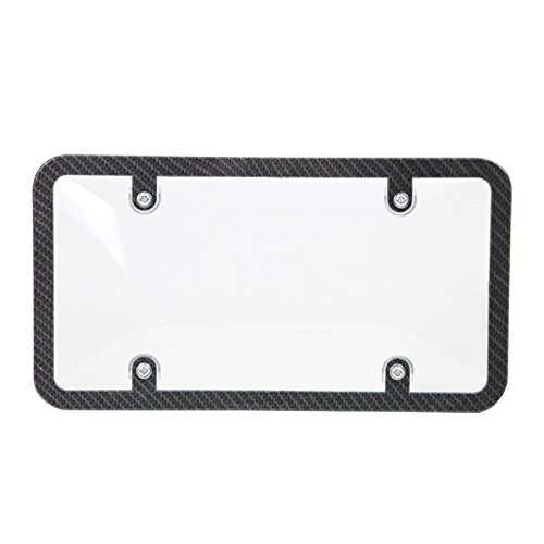 LT Sport SN#100000001361-209 For DODGE Slim Carbon Fiber License Plate Frame