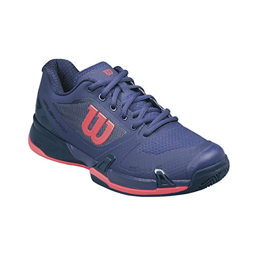 Wilson WRS323040E045, Zapatillas de Tenis para Mujer, Varios Colores (Multicolor / Astral Aura / Evening Blue / Fiery Cora), 37 2/3 EU