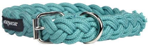 Wagwear Braided Fisherman Collar - Aqua - Medium