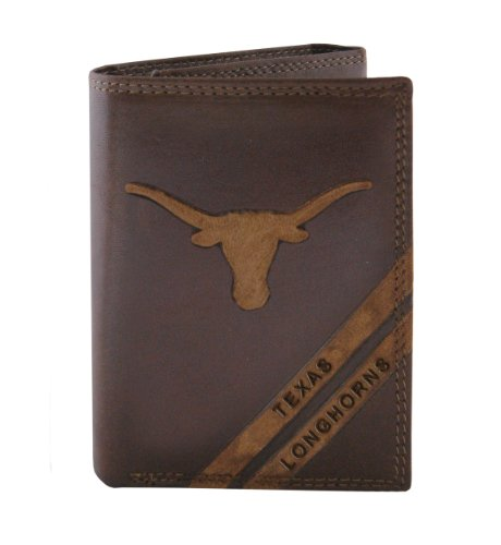 NCAA Texas Longhorns Zep-Pro Pull-Up Leather Trifold Embossed Wallet, ()