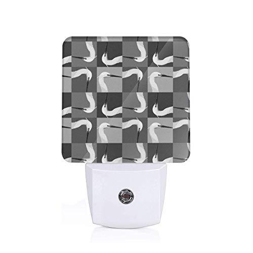 Egret Head Sleep Night Light Nightlight Auto Sensor LED Dusk to Dawn Night Light Plug in Indoor for Adults