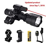 Ulako Red Dot Laser with Single 1 Mode Hunting Tactical V3 Flashlight Torch for Rifle Shotgun AR15 Airgun