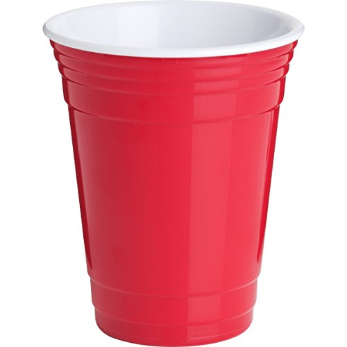 Trudeau 08712120 16 Oz Single Red Party Cup