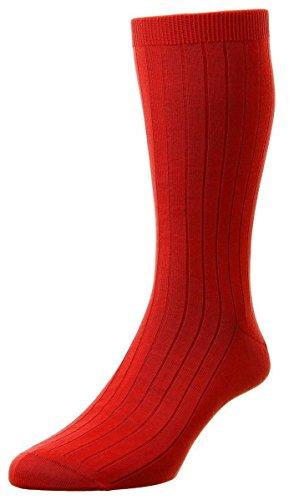 Pantherella Sea Island Cotton - Scarlet Pembrey Sea Island Cotton Socks by Pantherella - Large
