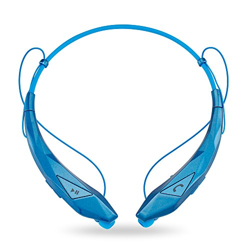 Oct17 Wireless Sport Stereo Bluetooth Headphones Diamond Universal Earphones Running or Workout Driving Gym Headset - Blue