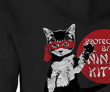 Amazon.com: Ninja Kitty Cat Kitten Lover - Sudadera con ...