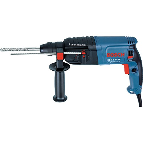 Bosch GBH2-23RE SDS-plus Rotary Hammer Drill Professional Easy Grip For Expert 650W + Auxiliary handle + Depth stop + Carrying case (220v Charger Europe type C plug)