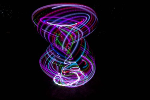 36'' - 24 Color Changing LED Hula Hoop - Cotton Candy Rainbow by ElectricLifeStylz (Image #3)