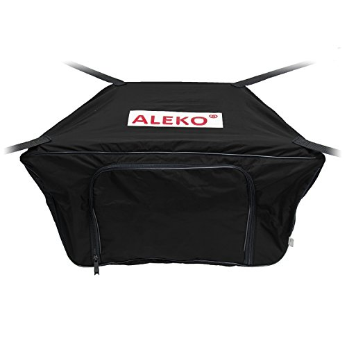 ALEKO BTFB380BK Front Bow Storage Bag Gear Pouch for 12.5 Foot Boats Water Resistant 19 x 30 Inches Black