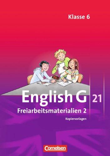 English G 21 - Ausgaben A, B und D: Band 2: 6. Schuljahr - Freiarbeitsmaterialien: Kopiervorlagen