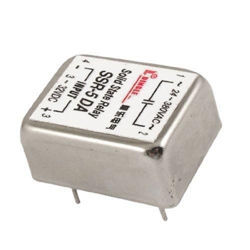 4 Pin PCB Relé de Estado Sólido SSR-5 DA 5A 3-32V DC / AC 24-380V