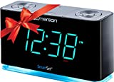 amazon com brookstone smartset am fm cd alarm clock radio home rh amazon com Projection Alarm Clock Dual Alarm Clock