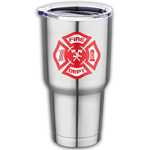 Rescue Knife Bravo (Firefighter Rescue Symbol Stainless Steel Vacuum Insulated Tumbler With Lid Coffee Cup Flask 18.7oz)